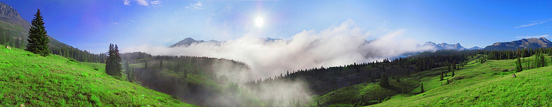 Foggy sunrise pano Copyright John G Harris